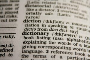 dictionary-IELTS Vocabulary Practice For The Speaking Paper